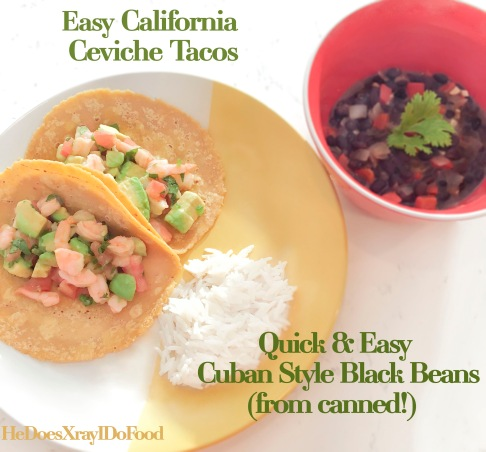 Quick and Easy Cuban Style Black Beans (from canned)- HeDoesXrayIDoFood.com