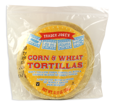 Tjs corn tortillas