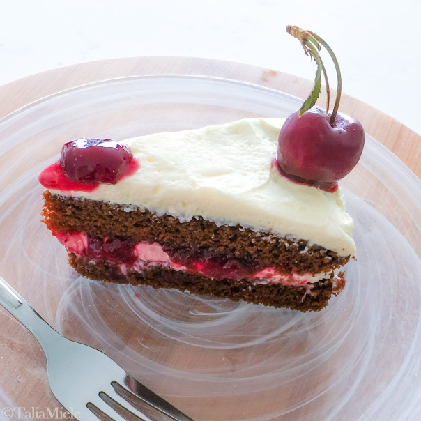 Light Black Forest Cake with REAL Whipped Cream- HeDoesXrayIDoFood.com