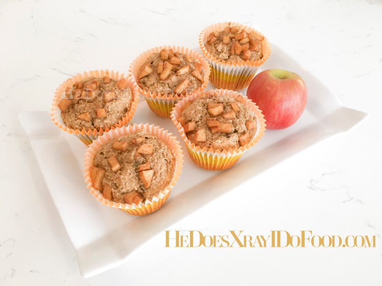 Bought too many, Banana-Apple Bran Muffins, 200 cal & the size of your fist!-HeDoesXrayIDoFood.com