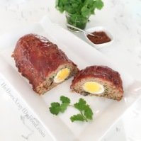 """Moroccan Spiced """"Make-Ahead"""" Meatloaf; Under 300cal with Almost 30g Protein- HeDoesXrayIDoFood.com"""