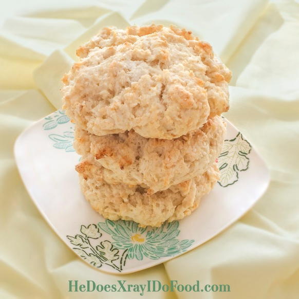 Best no-roll, less butter (& whole wheat if you want) biscuits EVER!- HeDoesXrayIDoFood.com