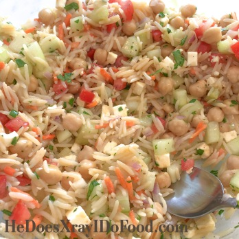 Light Tabouli Style Rice Pilaf; a fresh, simple side dish- HeDoesXrayiDoFood.com