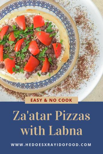 Za'atar Pizzas with Labna-HeDoesXrayIDoFood.com
