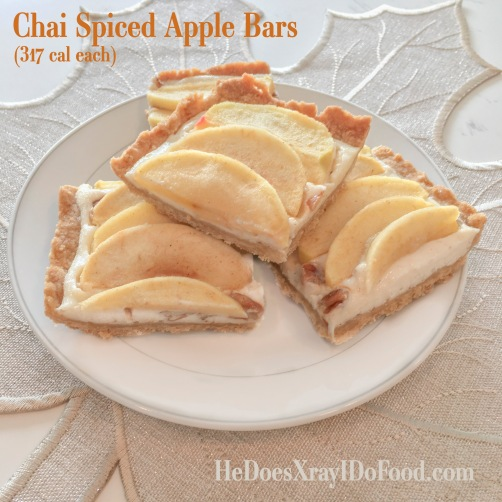 Chai Spice Apple Bars- HeDoesXrayIDoFood.com