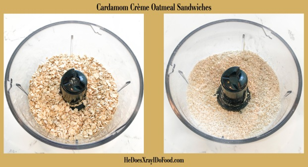 (Accidentally Vegan) Cardamon Creme Oatmeal Sandwiches