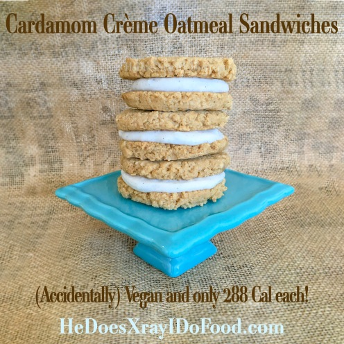Accidentally Vegan- Cardamom Creme Oatmeal Sandwiches- HeDoesXrayIDoFood.com