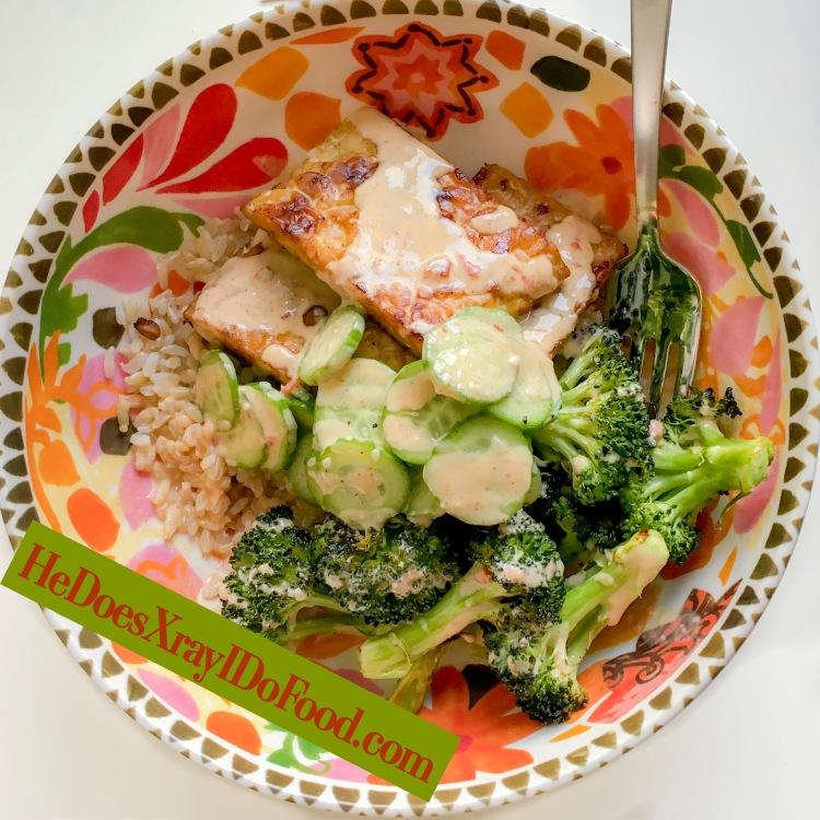 Tahini Tempeh Bowls (Make Ahead Meal)- HeDoesXrayIDoFood.com