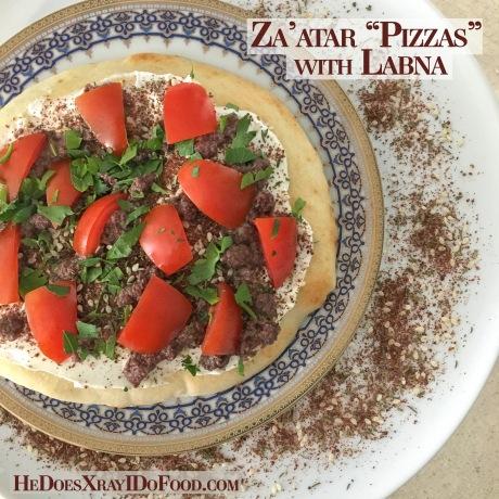 Za'atar Pizzas with Labna- HeDoesXrayIDoFood.com