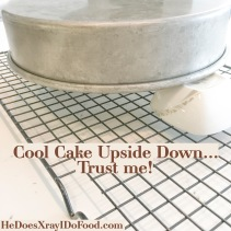 Low Fat, Low Calorie Southern Coconut Cake-Cool Cake Upside Down-HeDoesXrayIDoFood