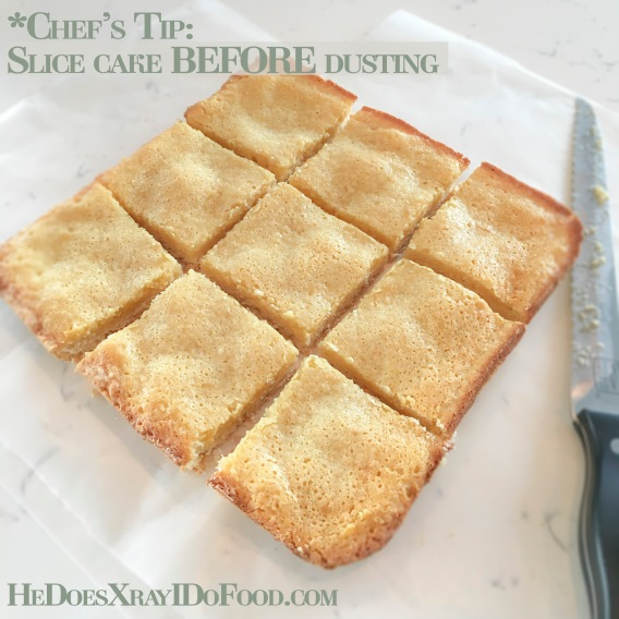 Light & Sinless (St. Louis Style) Ooey Gooey Butter Cake; 1/2 the calories, less than 1/2 the fat!-HeDoesXrayIDoFood.com