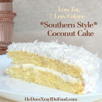 Southern Coconut Cake-cake slice-HeDoesXrayIDoFood