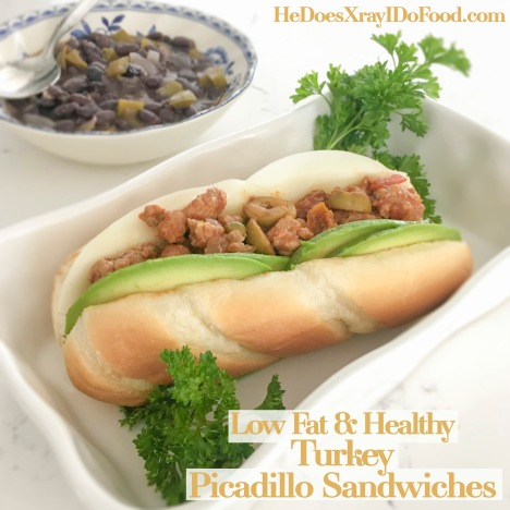 Low Fat & Healthy; (Turkey) Picadillo Sandwiches-HeDoesXrayIDoFood.com