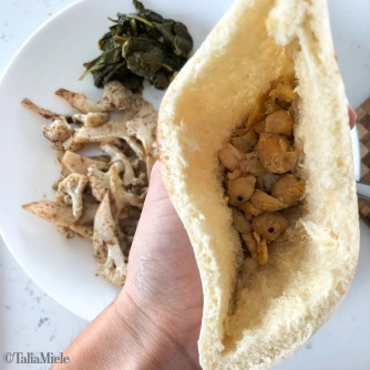 (VEGAN & Make Ahead) Cauliflower Shawarma Pitas with Tahini Sauce-HeDoesXrayIDoFood.com