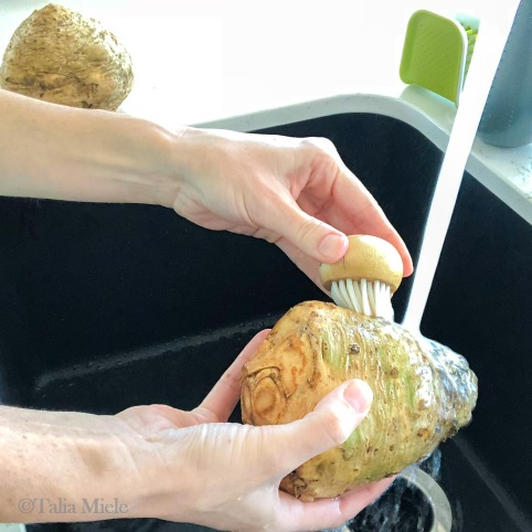 (Vegan) Stuffed Celery Root; Its Roasting Season-HeDoesXrayIDoFood.com