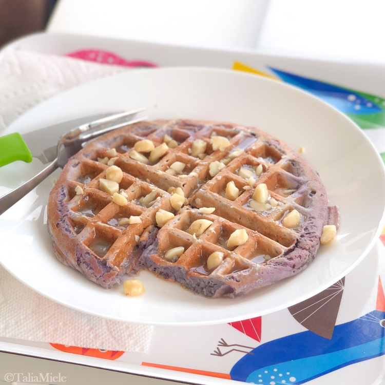 Easiest Ube Waffles with Effortless Coconut Syrup, (Vegan Option!)-HeDoesXrayIDoFood.com