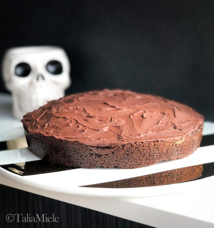 Sauerkraut & Chocolate Cake with 3 Ingredient (Vegan) Fudgy Ganache-HeDoesXrayIDoFood.com