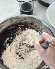 Sauerkraut & Chocolate Cake, (Vegan) Fudgy Ganache Frosting-mixing 1-HeDoesXrayIDoFood
