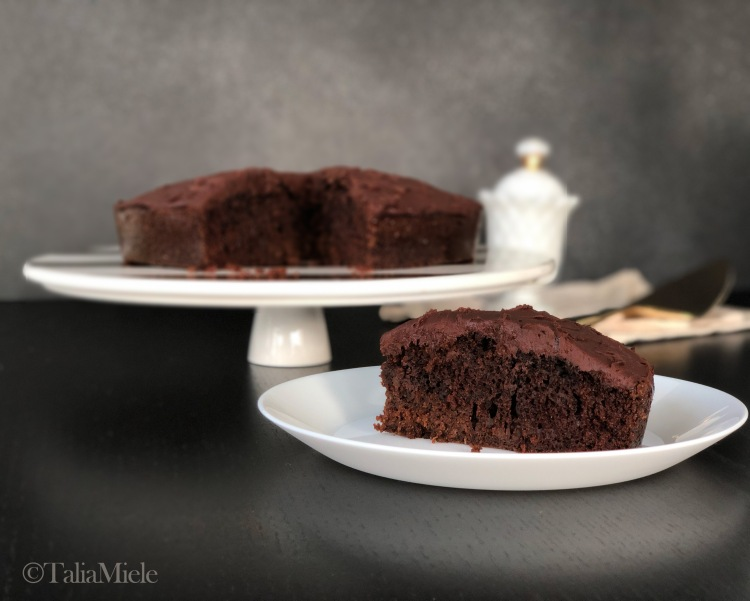 Sauerkraut & Chocolate Cake with 3 Ingredient (Vegan) Fudgy Ganache-HeDoesXrayIDoFood.com