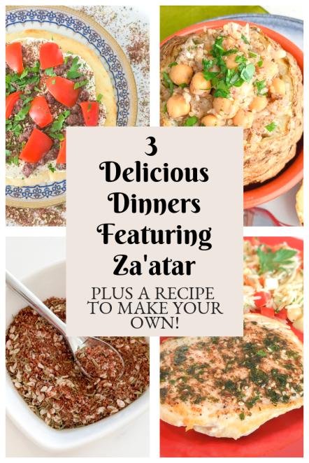 3 Delicious Dinners Featuring Za'atar, Plus a Recipe to Make Your Own!- HeDoesXrayIDoFood.com